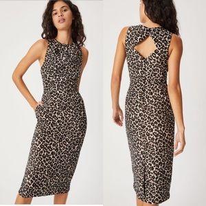 NWT Anthropologie Benicia Jacquard Midi Dress